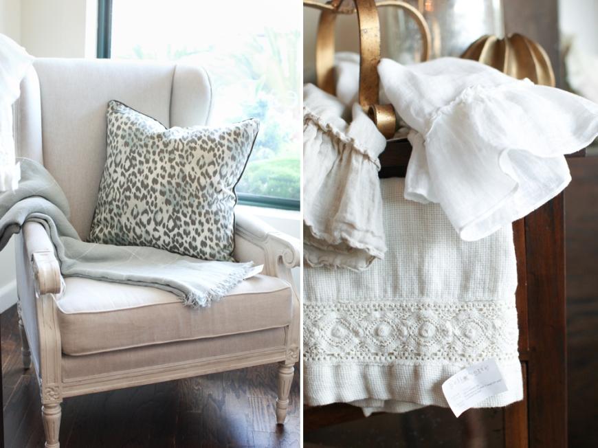 leopard accent pillow bella notte guest towel